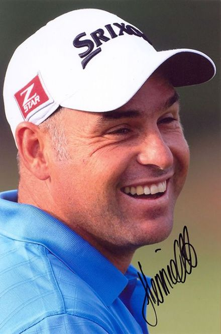 Hennie Otto, South African golfer, signed 9x6 inch photo.